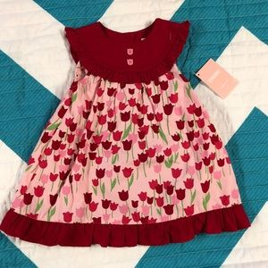 Gymboree red and pink floral dress